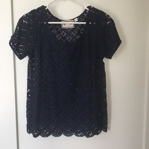 Anthropologie scalloped shirt